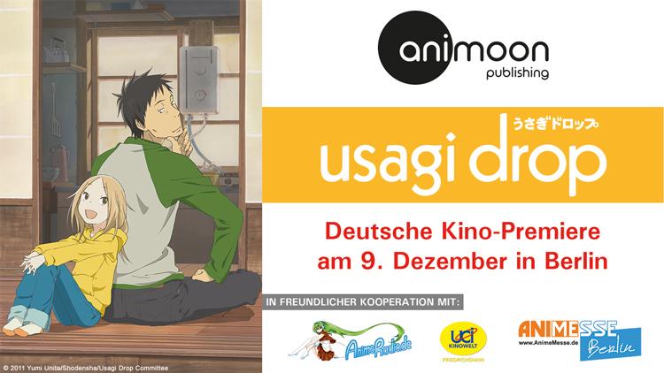 Usagi Drop deutsche Kino-Premiere am 09. Dezember in Berlin